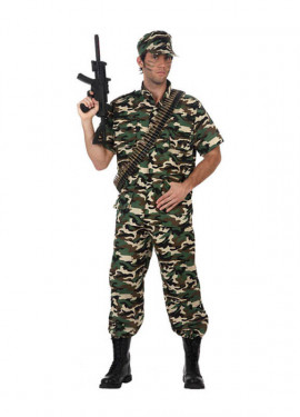 Disfraz de Soldado Camuflaje manga corta