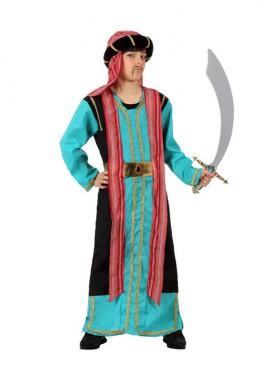 Disfraz Jeque Árabe azul o Paje niños