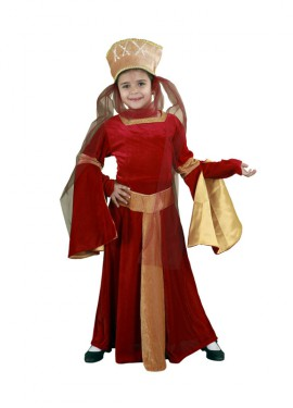 Disfraz de Lady Ginebra Medieval niña 10-12 años