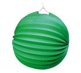 Farol Esférico de papel de 26 cm. de color verde