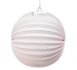 Farol esférico de color blanco de 26 cm.