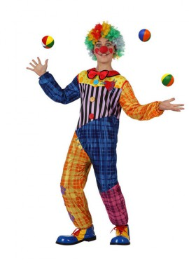 Disfraz de Payaso colores para niños
