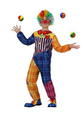 Déguisement Garçon Clown Couleurs enfants de 7 à 9 ans
