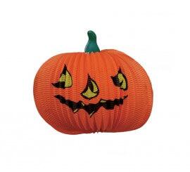 Farol Calabaza de papel fantasía Halloween, 36 cm.