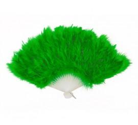 Abanico de plumas verde
