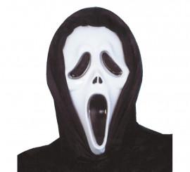 Masque de Scream avec cagoule en pastique pour Halloween