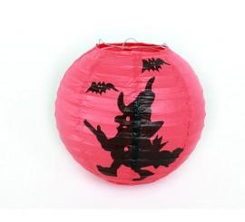 Farolillo Bruja de papel para decoración Halloween