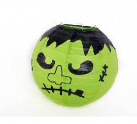 Farolillo Frankenstein de papel para Halloween
