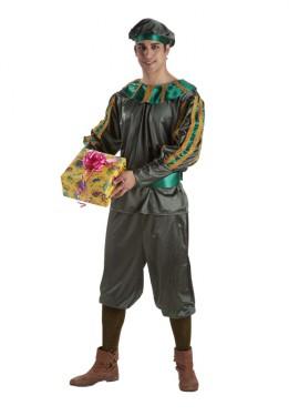Disfraz o traje de Paje del Rel Melchor adulto