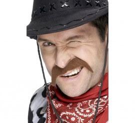 Bigote Cowboy color Castaño para hombre