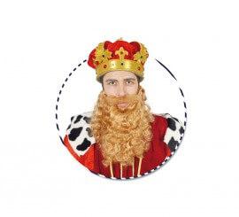 Barba grande rubia de Rey Mago Gaspar