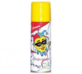 Spray Serpentina de color Amarillo