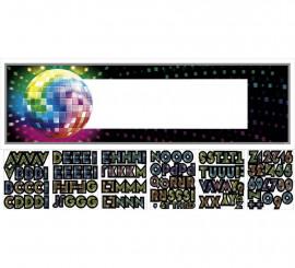 Banderín Gigante de Disco con 120 letras y números adhesivos