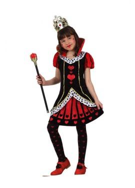 Disfraz de Dama de Corazones para niñas