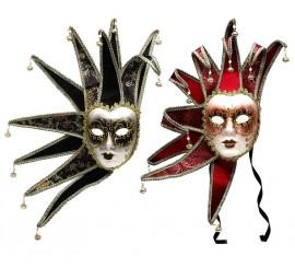 Máscara Veneciana Arlequín 2 colores surtidos