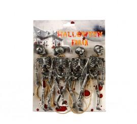 Guirnalda de cuerda con 4 esqueletos de 15 cm