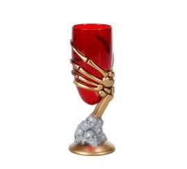 Copa Calavera estrecha con mano de 17x7 cm