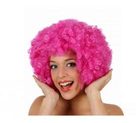 Peluca Afro rosa de 35 cm