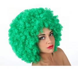 Peluca Afro verde de 35 cm