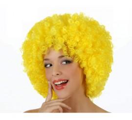 Peluca Afro amarilla de 35 cm