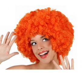 Peluca Afro naranja de 35 cm