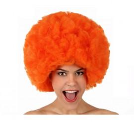 Perruque Afro Hippie Orange de 40 cm