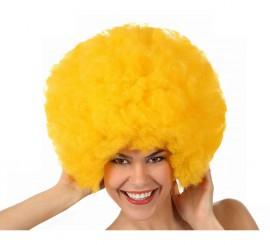 Peluca Afro de Hippie amarilla de 40 cm
