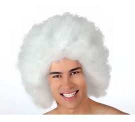 Peluca Afro de Hippie blanca de 40 cm