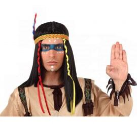 Perruque Indien avec plumes