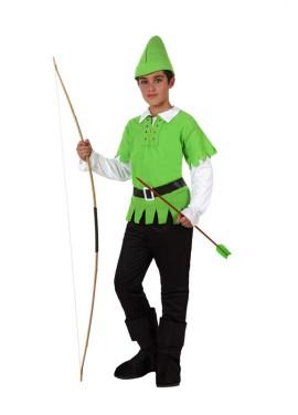 Déguisement de Robin ou Archer des bois enfants plusieurs tailles