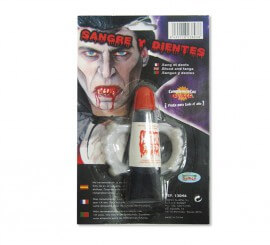 Set de Sang Artificiel et Dents de Vampire pour Halloween