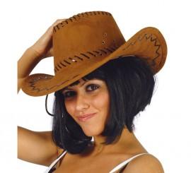 Sombrero Vaquero marrón simil a piel