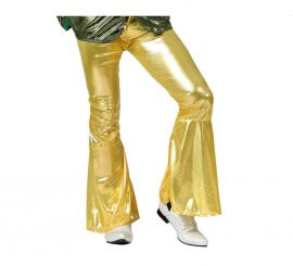 Pantalón de la Disco dorado para hombre