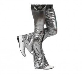 Pantalón de la Disco Brillo gris para hombre