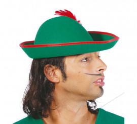 Sombrero de Tirolés o Robin de fieltro con pluma
