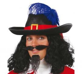Sombrero fieltro negro de Mosquetero