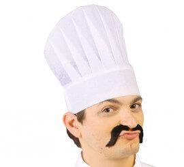 Gorro o Sombrero de Cocinero de papel