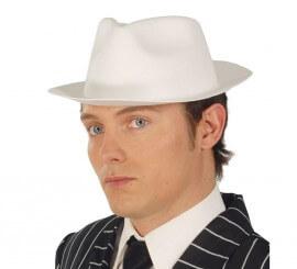 Sombrero Ganster de latex blanco