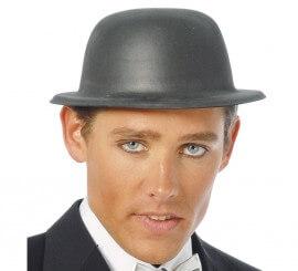 Sombrero o Bombín de latex negro