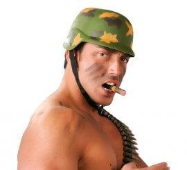 Casco Militar con cuerda
