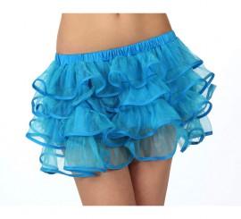 Falda con volantes azul neon para chicas talla S