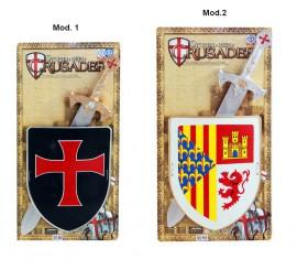 Conjunto Escudo con Espada infantil. Precio unidad.