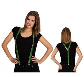 Bretelles à Séquins Verts