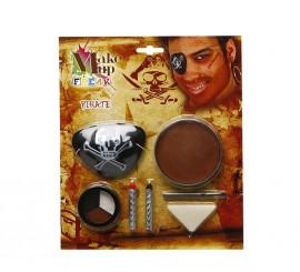 Set de Maquillage de Pirate avec un cache-oeil
