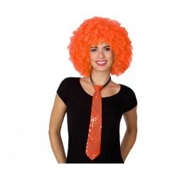 Corbata brillo naranja de 38 cm
