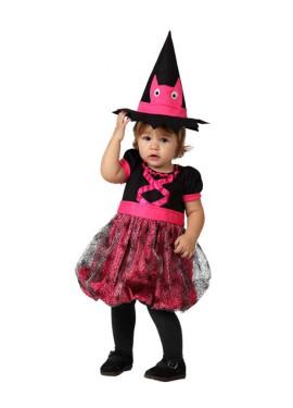 Disfraz de Bruja rosa para bebés
