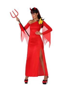 Disfraz de Demonia rojo para mujer