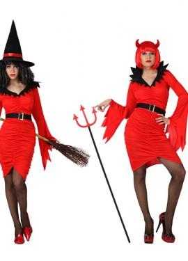 Disfraz de Bruja y Demonio 2 en 1 para mujer