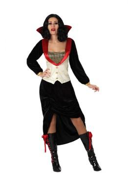 Disfraz de Vampiresa Deluxe para mujer talla M-L