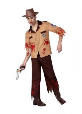 Disfraz de Policía Zombie para hombre